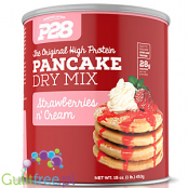 P28 Naleśniki Proteinowe Czekolada & Kokos 0,45kg The Original High Protein Pancake Dry Mix, Strawberries n' Cream
