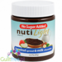 Sugar Free Nuti Light Gluten-Free Hazelnut Spread Milk and Chocolate