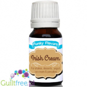 Funky Flavors Irish Cream for Shakes, Desserts, Yoghurt, Ice Cream & Pancakes - Uncooked, nonfat cream liqueur, irish cream for