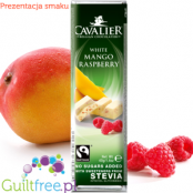 Cavalier Mango Raspberry White Chocolate with stevia - White chocolate with raspberry mango and raspberry