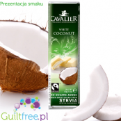 Cavalier Coconut White with stevia - White chocolate with coconut sweetened with stevia