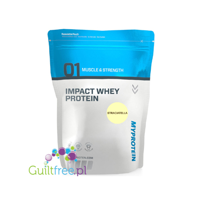 MyProtein Impact Whey Protein Stracciatella Flavor Whey Protein Concentrate Powder Food Supplement with Sweetener