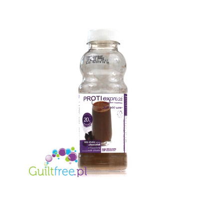 Proti Express Milk Shake Chocolate - an instant protein shake with chocolate flavor, contains sweeteners