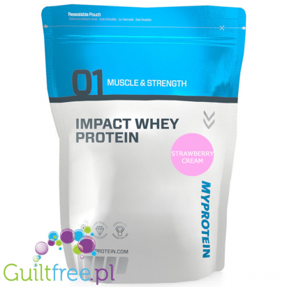 MyProtein Impact Whey Protein Strawberry Cream Flavor