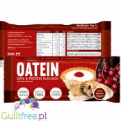 Oatmeal oats & protein flapjack with sugar and sweeteners Cherry Bakewell Flavor