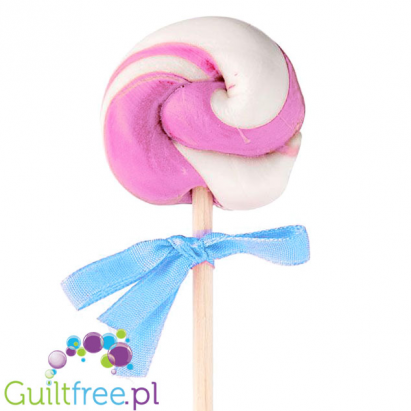 Lollipop without sugar & with stevia, raspberry-flavored