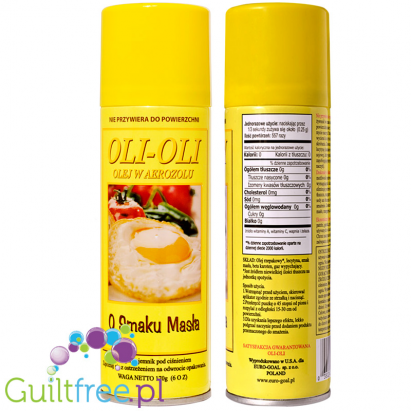 Dietary mixture of butter flavored spray on the basis of rapeseed oil