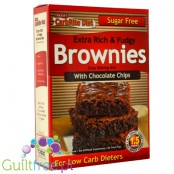 Doctor's CarbRite Diet Sugar Free extra rich & fudgy Brownies easy bakinx mix with chocolate chips - Ready-made mixture for choc