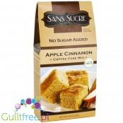 Sans Sucre No Sugar Added Apple Cinnamon Coffee Cake Mix with Stevia - Mixture for baking cakes flavored with vanilla butter-dri