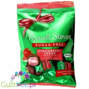 Russell Stover Sugar Free Candy Peg Bag, Strawberry Cream Naturally Flavored Candy Covered in Chocolate - Chocolate without suga