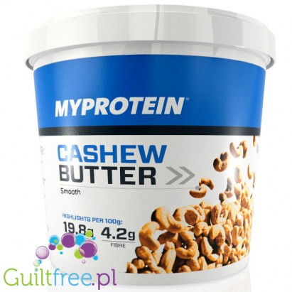 My Protein natural cashew butter - cashew butter smoothly ground, with no added sugar and no salt