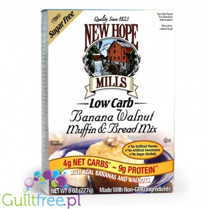 New Hope Mills Low Carb Banana Walnut Muffin & Bread Mix