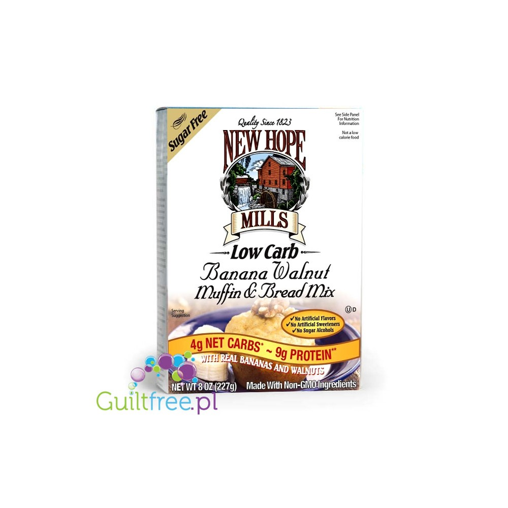 New Hope Mills Low Carb Banana Walnut Muffin Bread Mix Guiltfree Pl