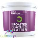 Roasted hazelnut butter 100% nuts, smooth - butter with roasted hazelnuts in skins, coarsely ground, no sugar, no salt