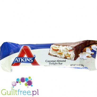 Atkins Snack Coconut Almond Delight Bar - coconut and coconut almonds with chocolate flavor