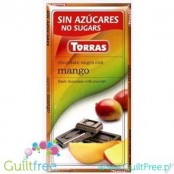 Torras ark chocolate without added sugar, with pieces of mango
