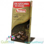 Torras Chocolate negro con edulcornate con grans de café - Dark chocolate without added sugar, sweetened with maltitol with coff