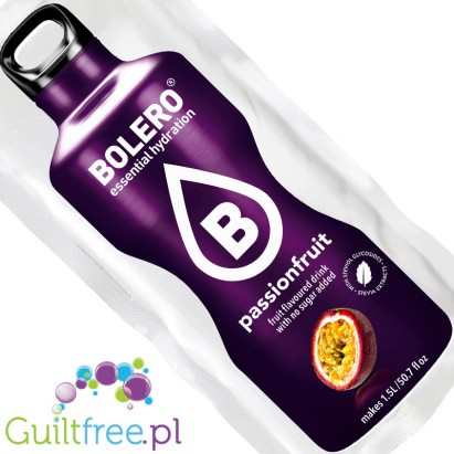 Bolero Instant Fruit Flavored Drink with sweeteners, Passionfruit - Mix powder to prepare a drink flavored with passion fruit sw