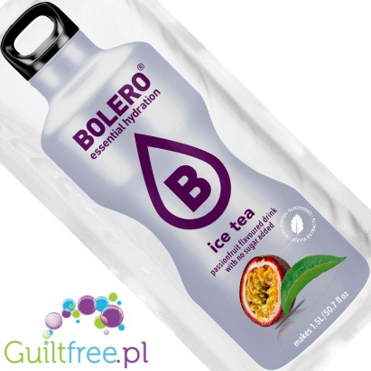 Bolero Instant Fruit Flavored Drink with Sweeteners Ice Tea Passionfruit - Powder Mix for the preparation of frozen margarita fl
