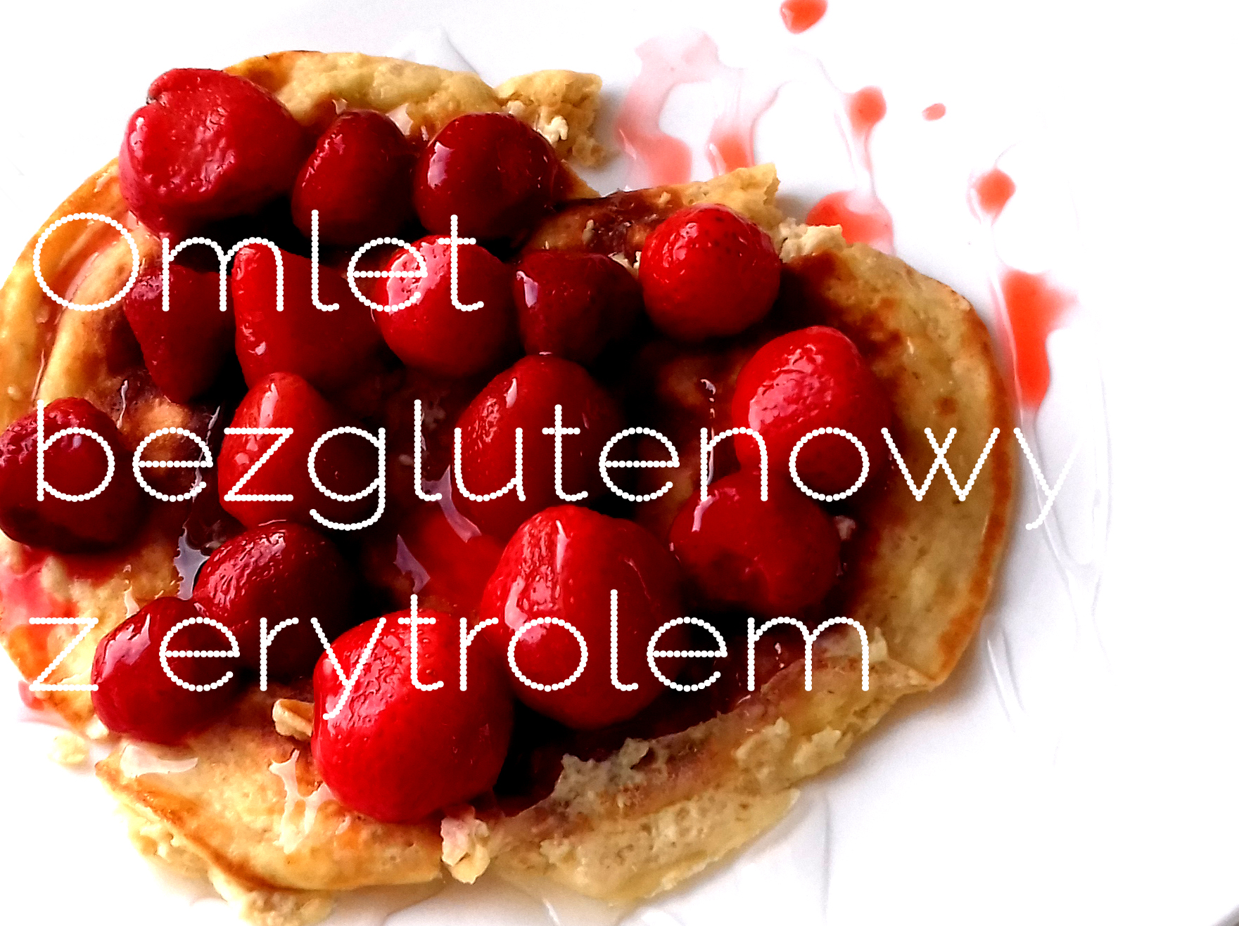 Bezglutenowy omlet owsiany z erytrolem