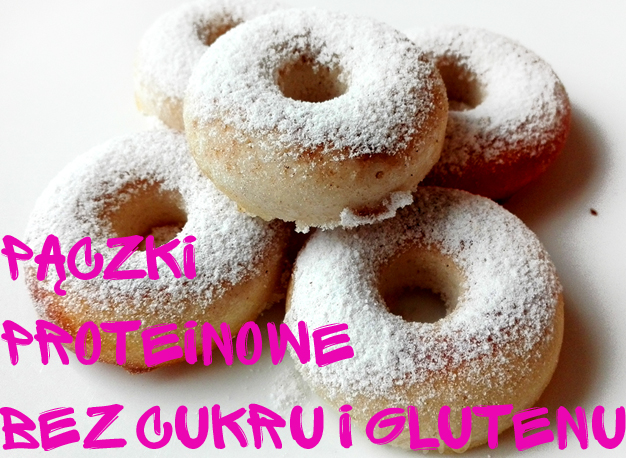 Proteinowe pączki bez glutenu i bez cukru z mąki kokosowej z erytrolem
