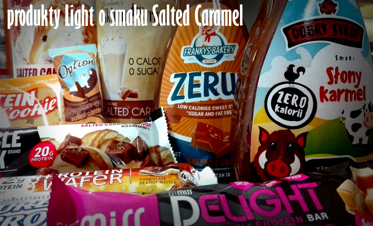największy wybór produktów light o smaku salted caramel