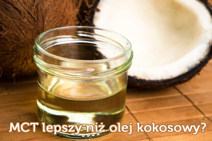 Olej MCT na tle orzecha kokosowego