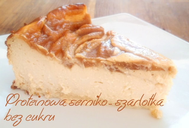 Proteinowa fit serniko-szarlotka (szarlotko-sernik ?) bez cukru