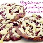 Bezglutenowe ciacha z malinami, macadamia i białą czekoladą