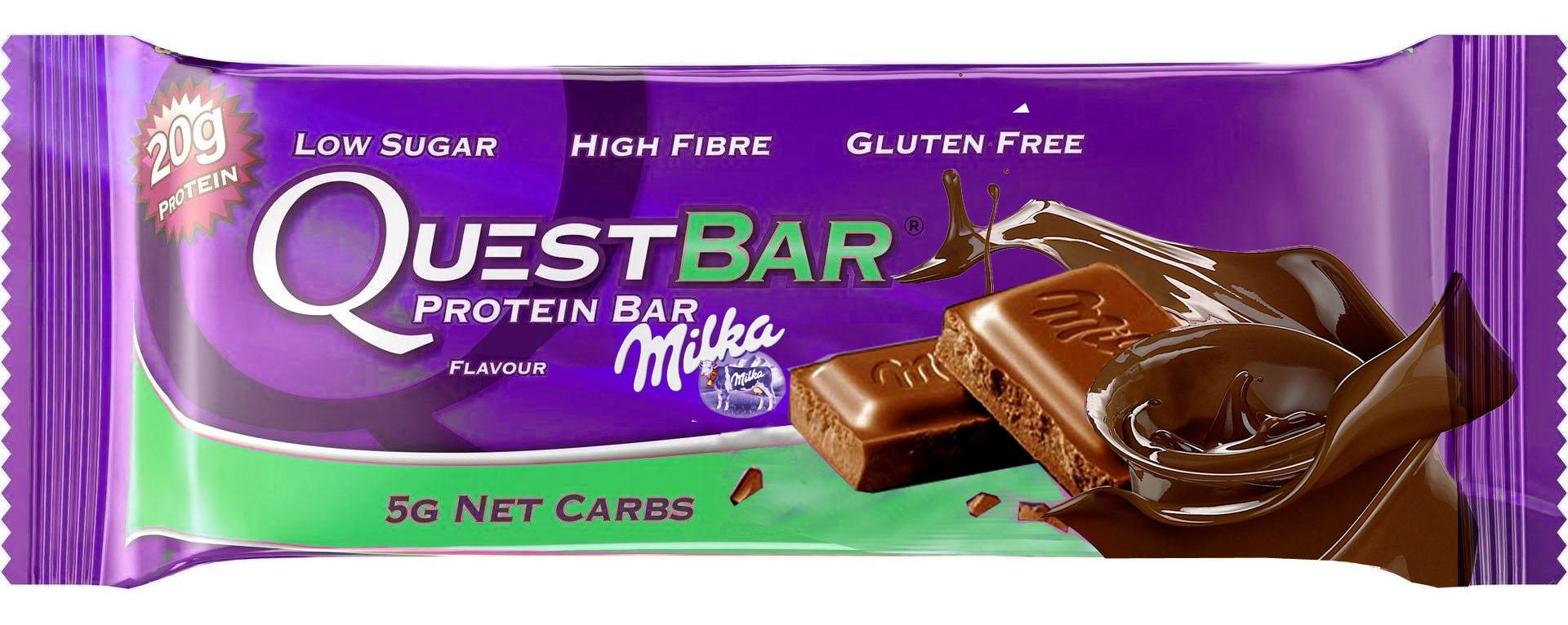 Homemade Quest Bar Milka flavor