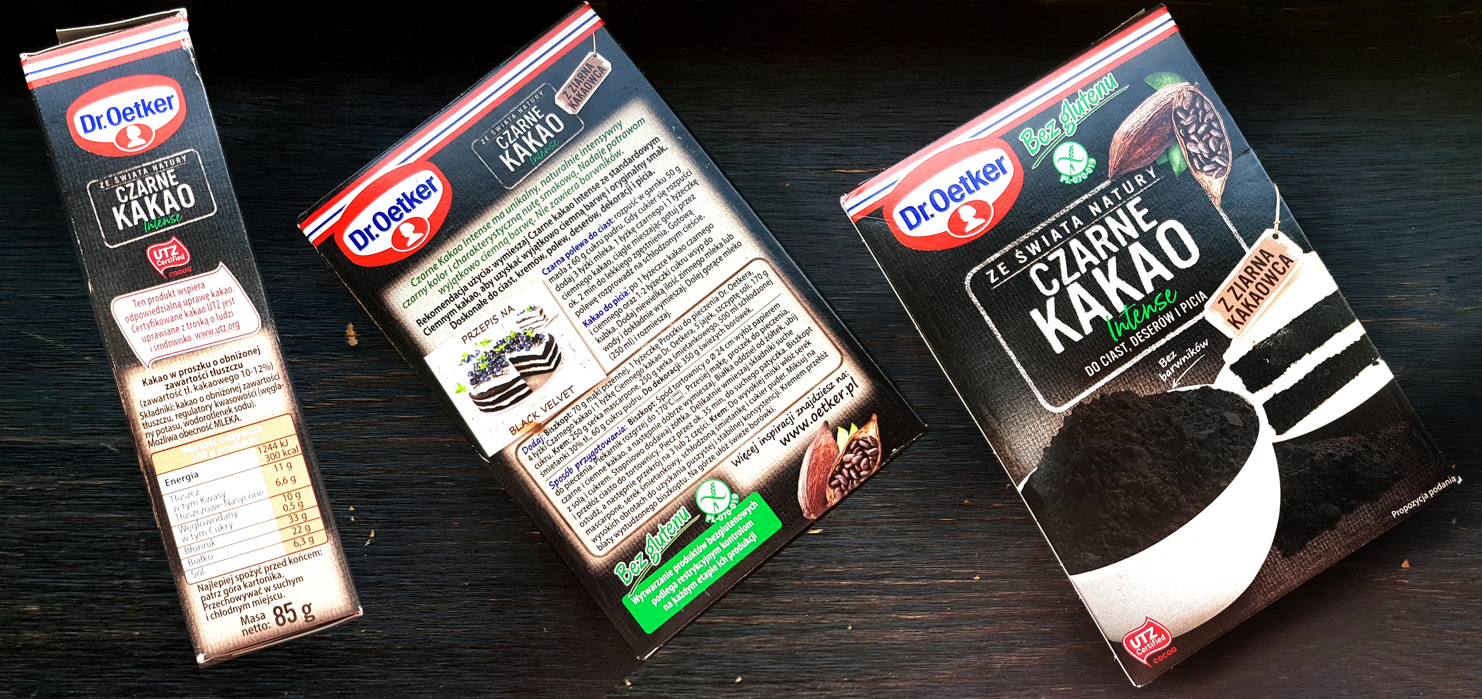 Czarne kakao Dr Oetker wartości odżywcze i zdrowotne zalety