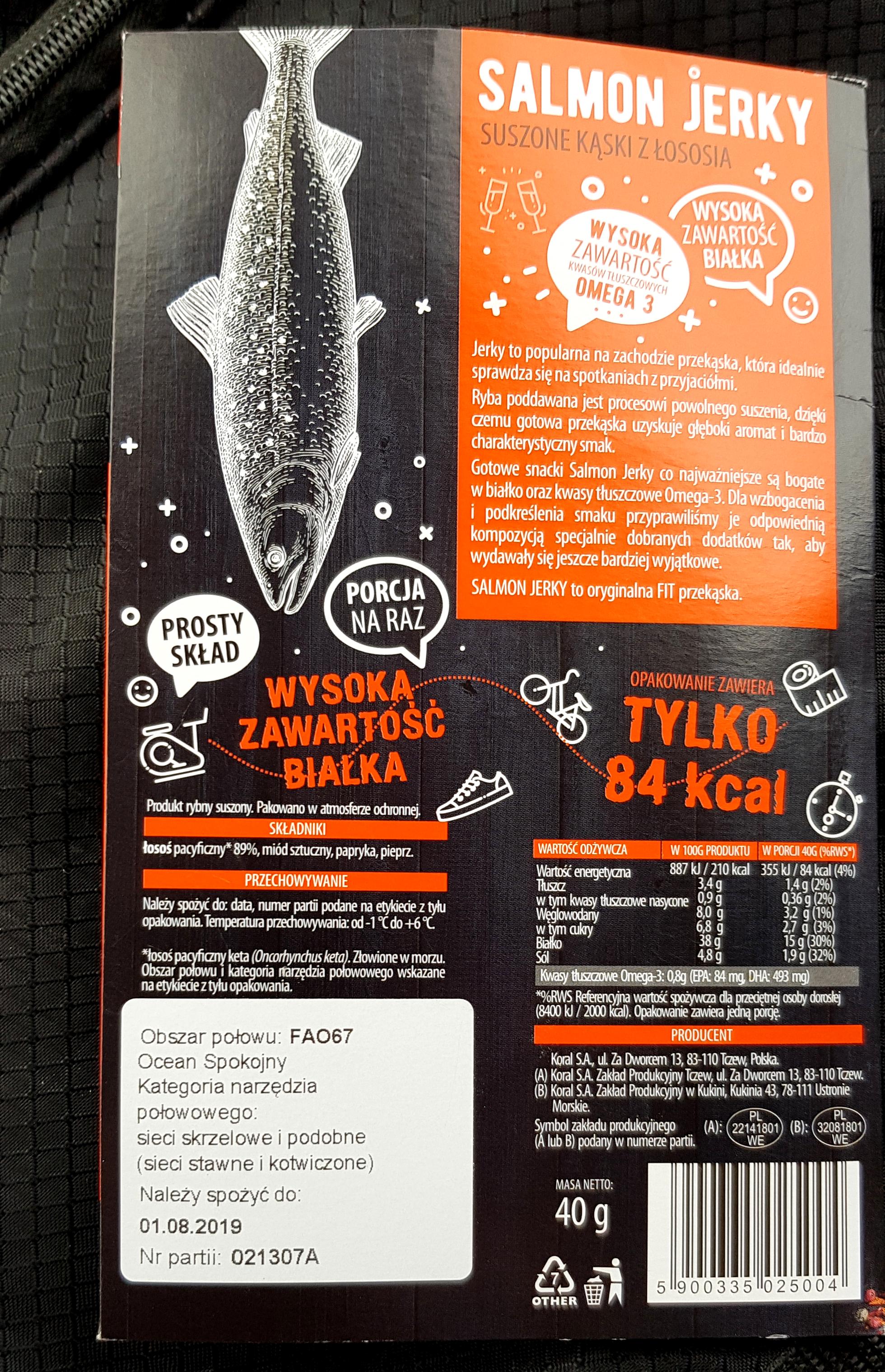 Super Fish Fish Snack Salmon Jerky wartości odżywcze