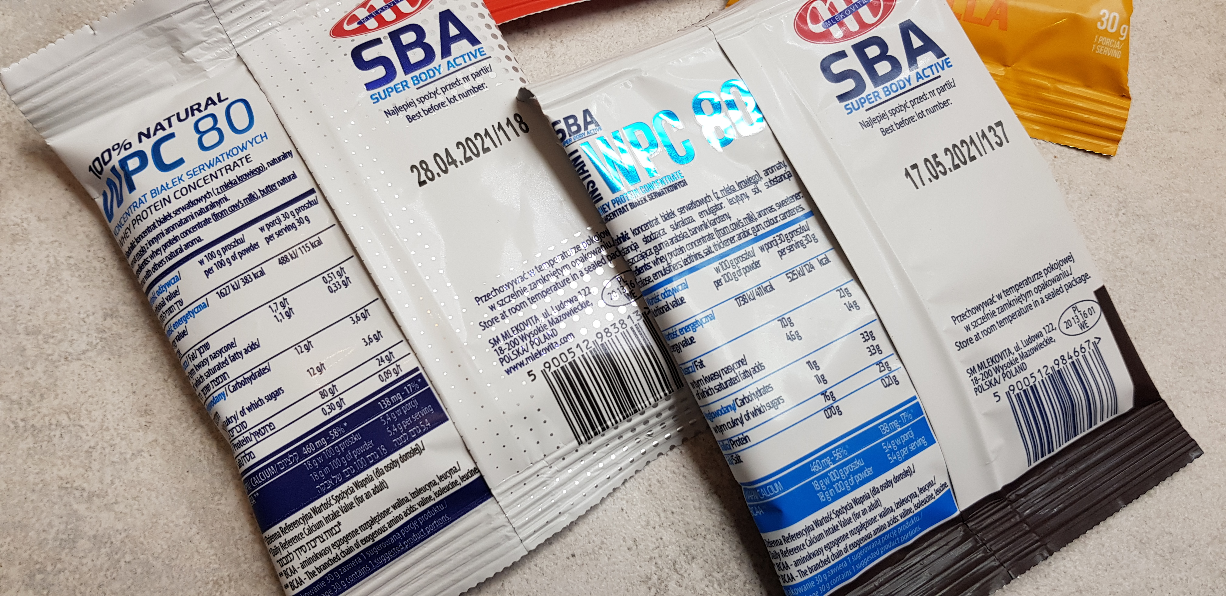 Mlekovita WPC 80 (wszystkie smaki)