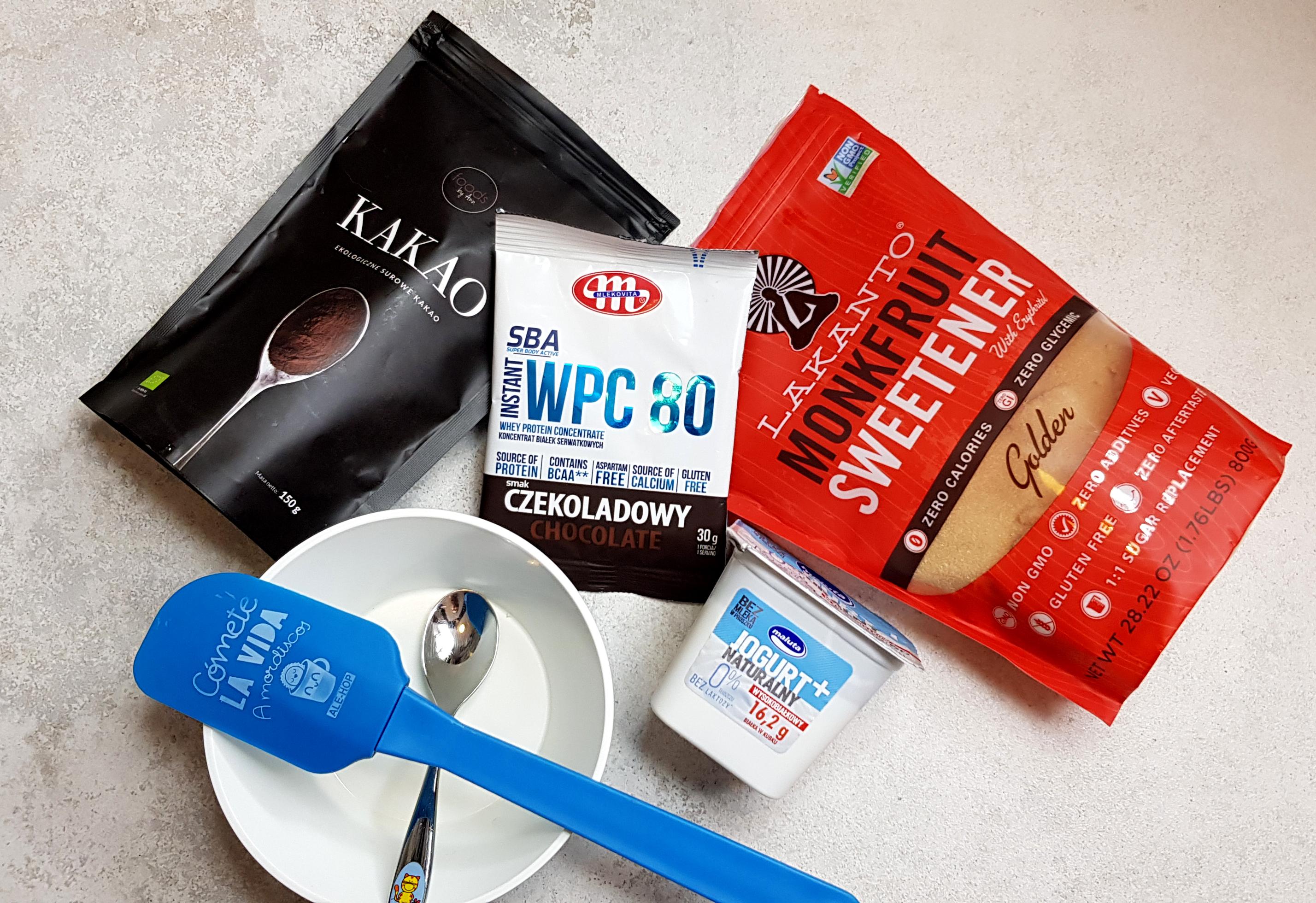 Proteinowy mus czekoladowy - składniki