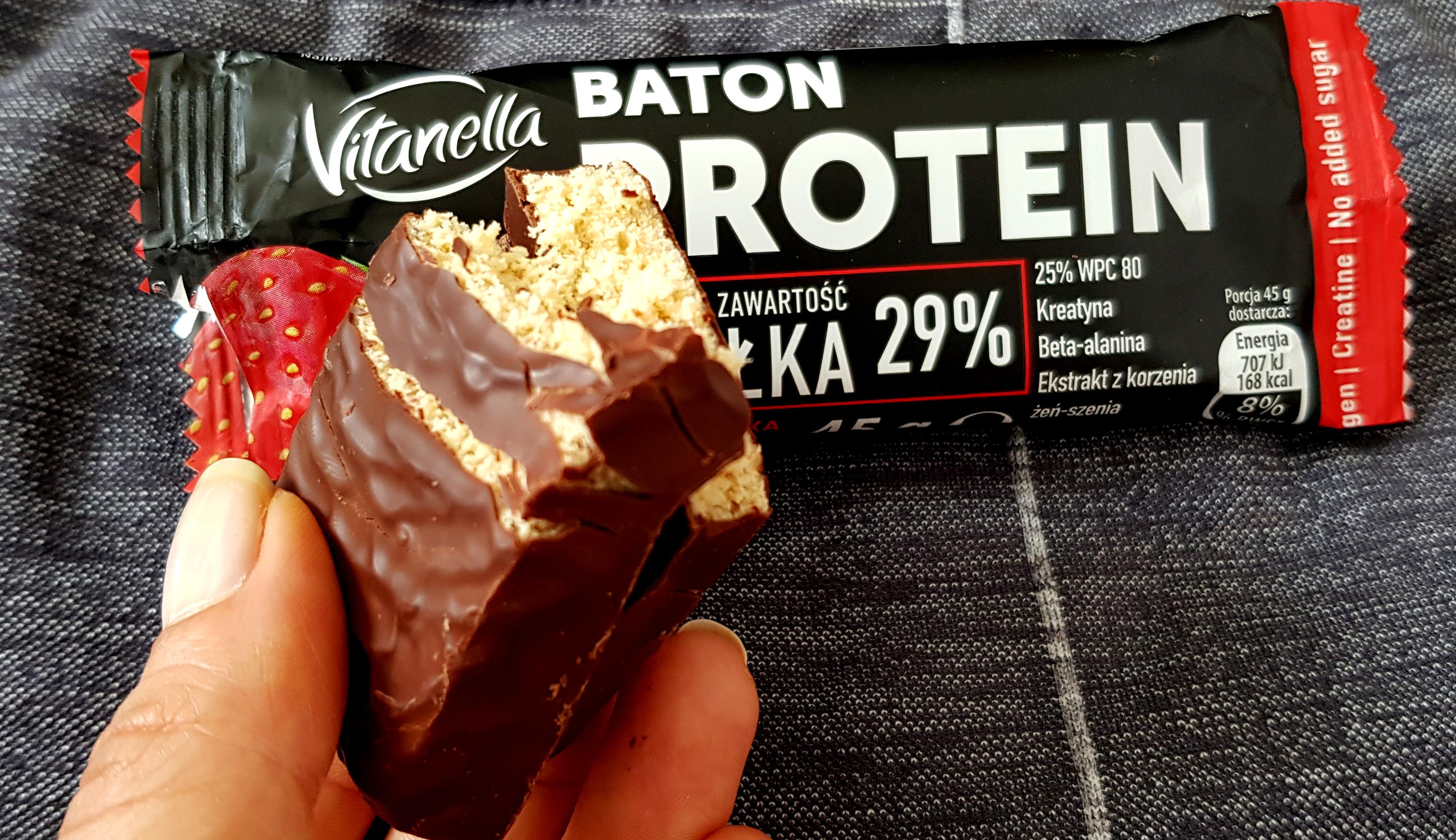 Fit Recenzje: Vitanella Truskawka & Kakao, baton proteinowy
