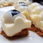 Proteinowy bubble cheeesecake z borówkami – dietetyczny fit sernik bez cukru