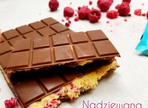 Fit czekolada bez cukru z malinami – oszczędź 50% kalorii