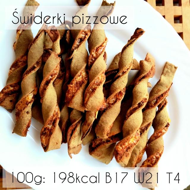 Proteinowe fit świderki pizzowe z serem Piórko – 29kcal / B2,5 / W3 / T0,6