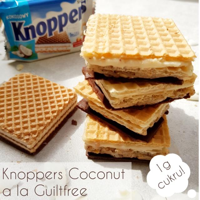 Fit Knoppers Coconut wafelek bez cukru – 100% lepszy niż oryginał
