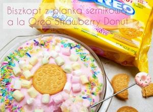 Jednoporcjowy deser proteinowy a la Oreo Strawberry Frosted Donut 376kcal 35g białka