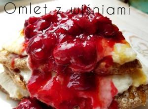 Omlet proteinowy z wiśniową frużeliną na erytrolu 452kcal & 55g białka