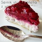Proteinowy sernik stracciatella z wiśniami, bez cukru 247kcal & 23g białka