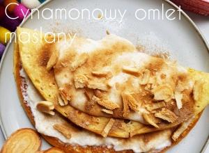 Proteinowy puchaty omlet maślano-cynamonowy bez cukru i glutenu