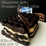 Wegańskie gofry proteinowe bez jajek, cukru i mleka a la Knoppers Black & White