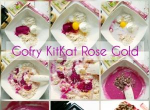 Najlepsze proteinowe gofry a la KitKat Rose Gold – bez cukru i masła, 484kcal & 41g białka