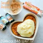 Jednoporcjowy proteinowy sernik dyniowy z polewą a la Reese's White Pumpkins