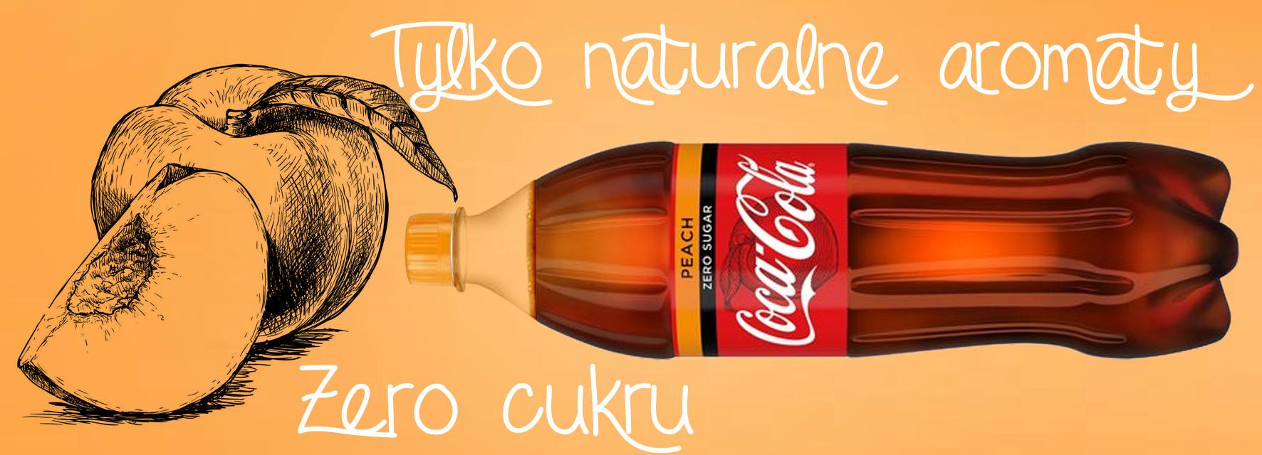 Brzoskwiniowa Coca Cola Peach Zero