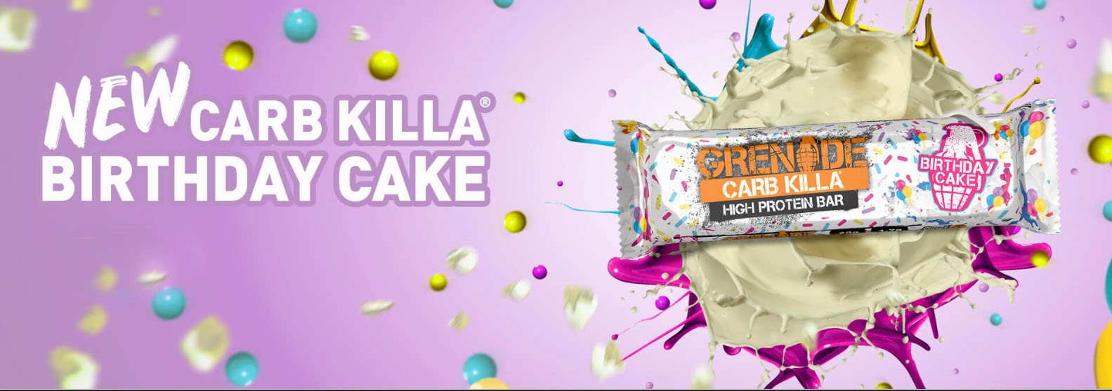 Grenade Carbkilla Birthday Cake