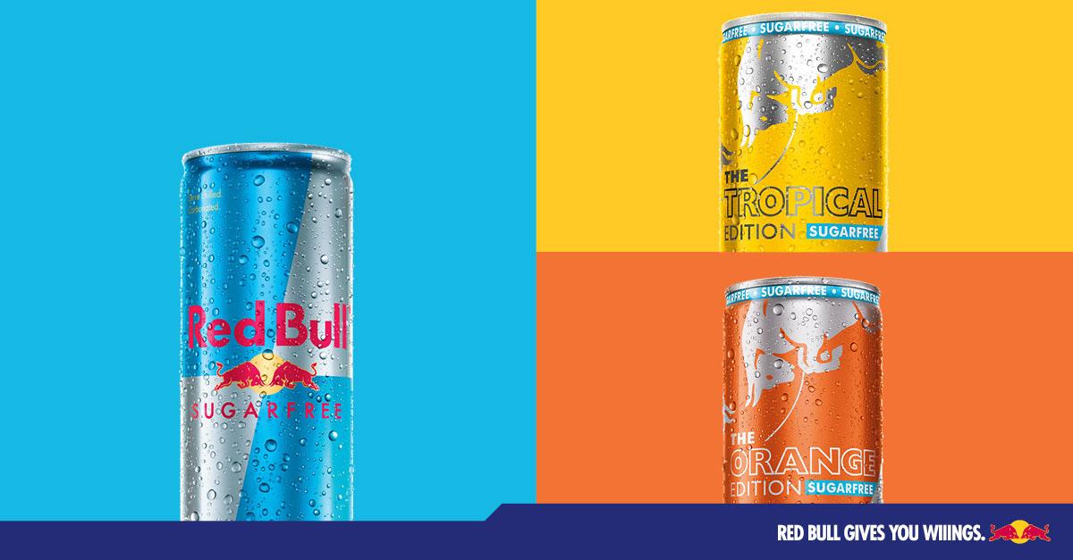 Red Bull bez cukru edycje limitowane