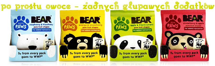 Bear owocowe przekąski dla dzieci - banner